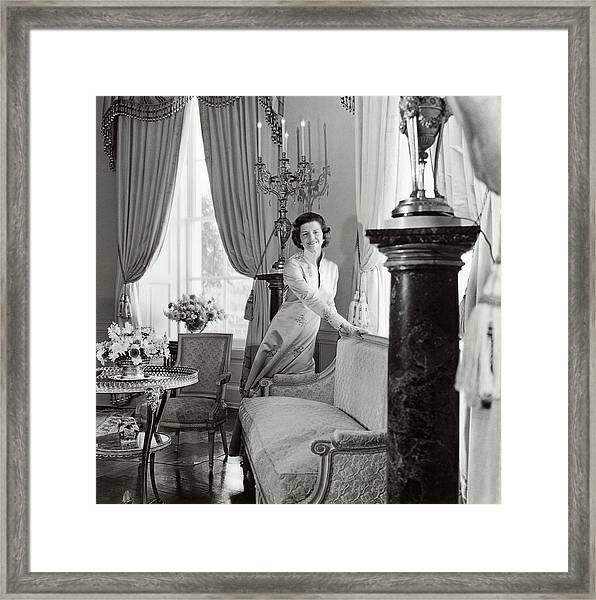 Betty Ford In The Oval Room Of The White House Framed Print by Horst P. Horst