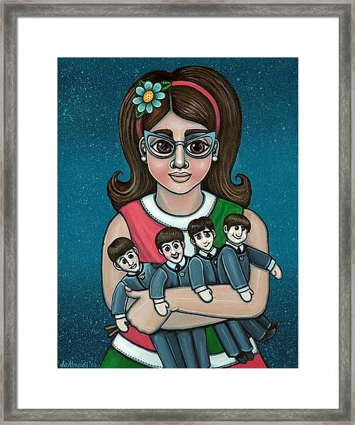 Betty Jeans Beatles Framed Print