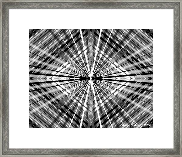 Between Black And White Framed Print