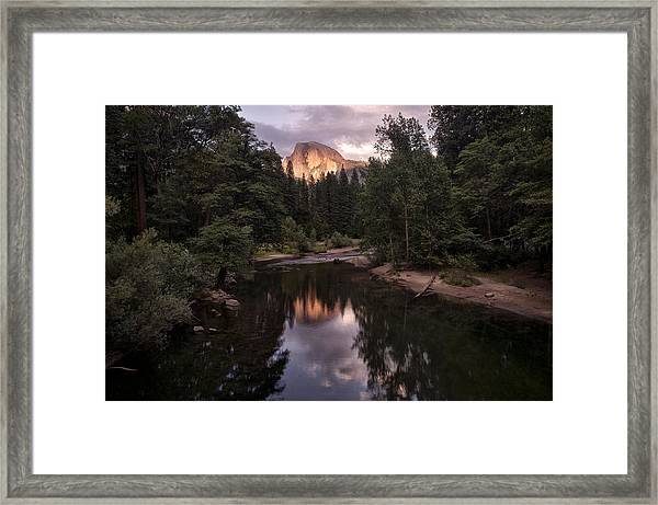 Between Every Two Pines Is A Doorway To A New World Framed Print