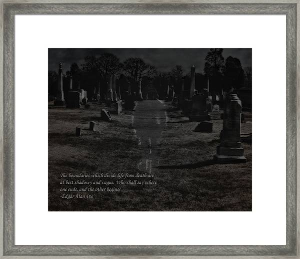 Between Life And Death Framed Print