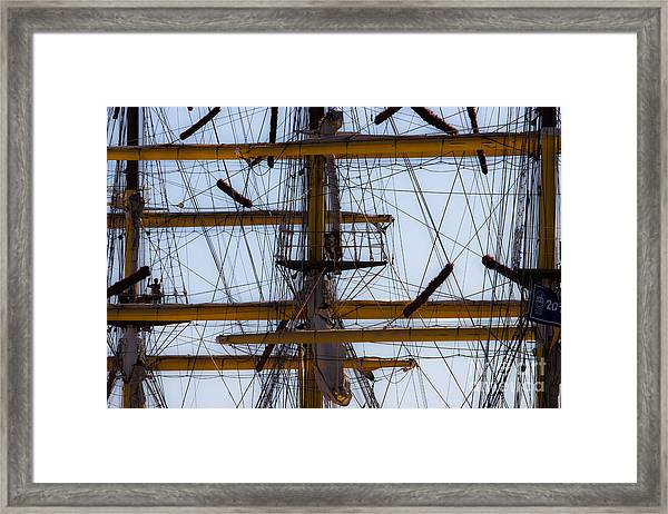 Between Masts And Ropes Framed Print