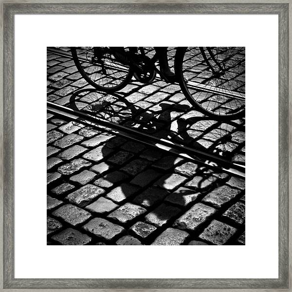 Between The Lines Framed Print