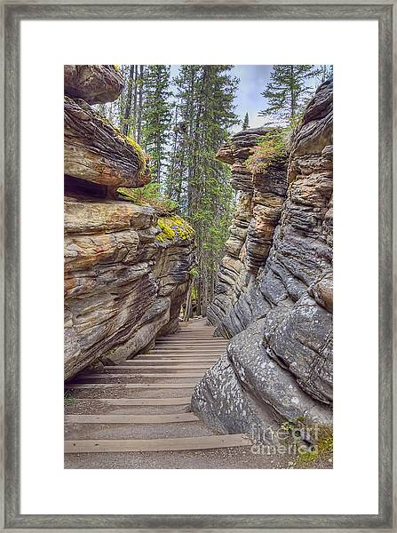 Between The Stones Framed Print