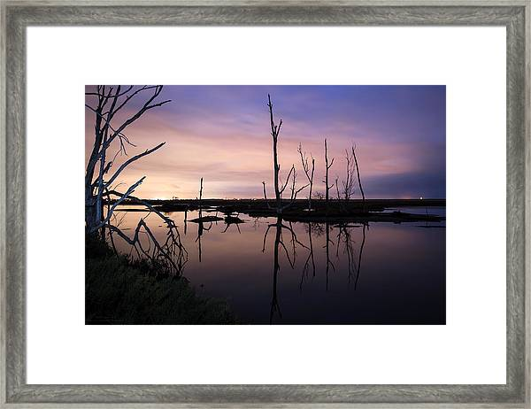 Between Two Worlds By Denise Dube Framed Print