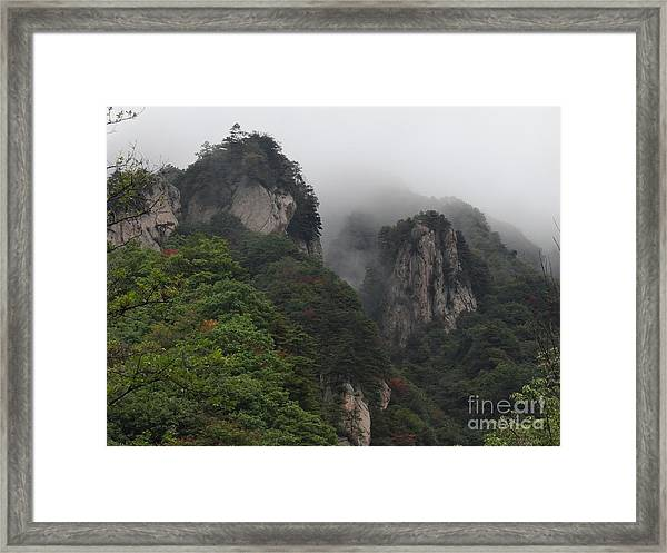 Between Yonder Hills Framed Print by Olivia Blessing
