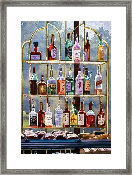 Beverly Hills Bottlescape Framed Print by Mary Helmreich