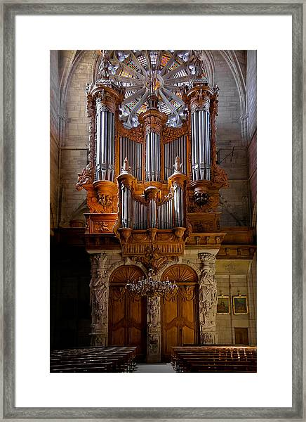Beziers Pipe Organ Framed Print