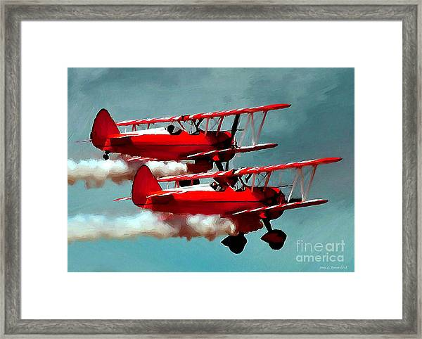 Bi-planes Framed Print