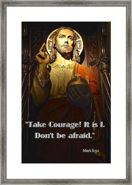 Bible Quote  Mark 6  50 Framed Print