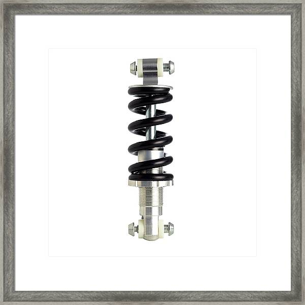 Bicycle Spring Suspension Framed Print by Science Photo Library