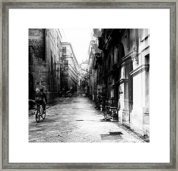 Bicycle Tour Framed Print
