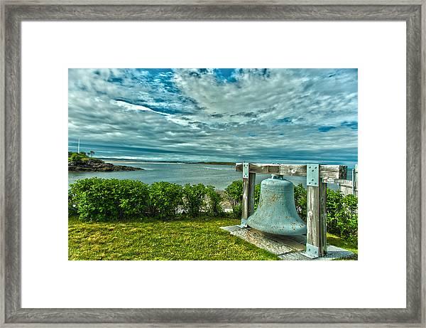 Biddeford Pool Bell Framed Print