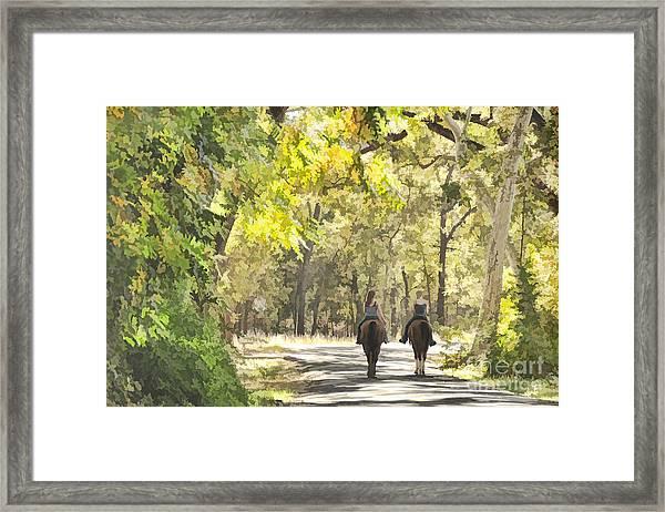 Bidwell Park Horse Trail Framed Print