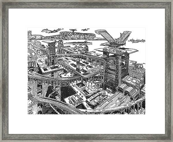 Biederman Futuristic City Framed Print