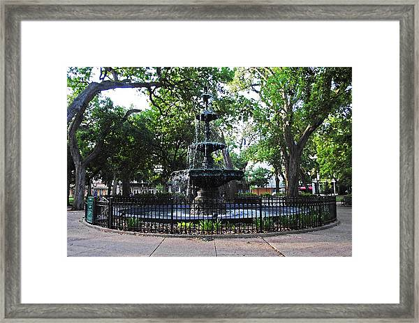 Bienville Fountain Mobile Alabama Framed Print