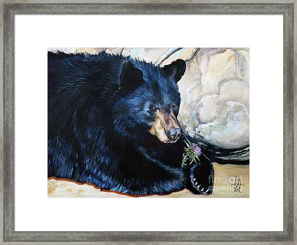 Big B And Little Bee Framed Print