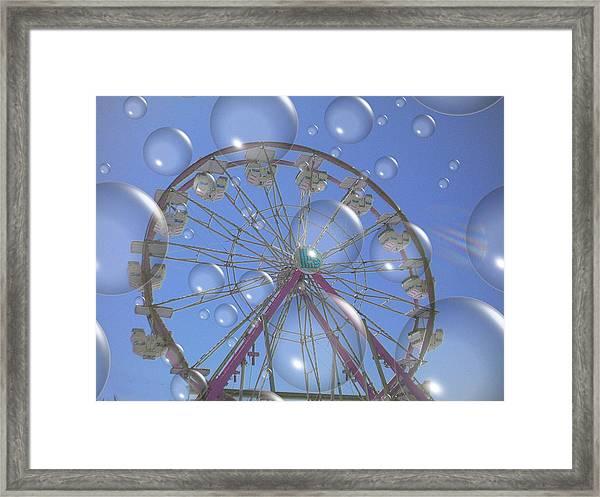Big B Bubble Ferris Wheel Framed Print