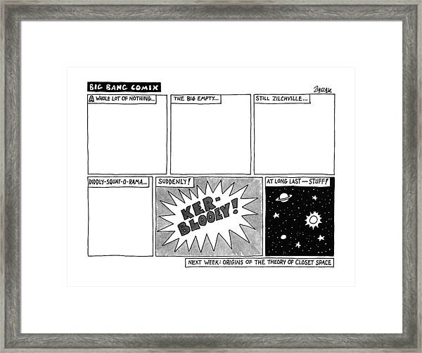 Big Bang Comix Framed Print