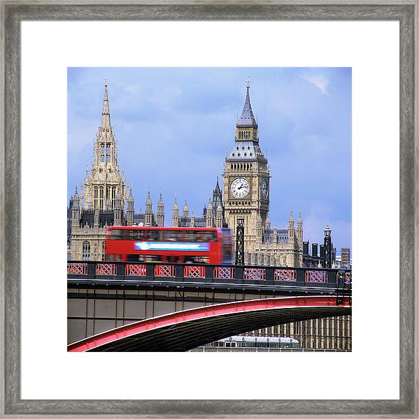 Big Ben And The Houses Of Parliament Framed Print by Mark Thomas/science Photo Library