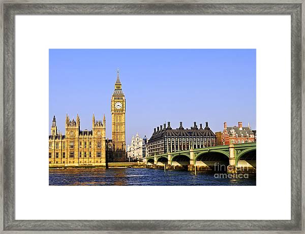 Big Ben And Westminster Bridge Framed Print