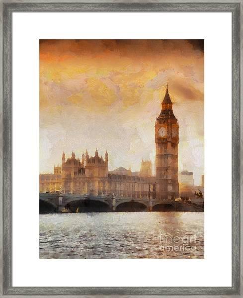 Big Ben At Dusk Framed Print