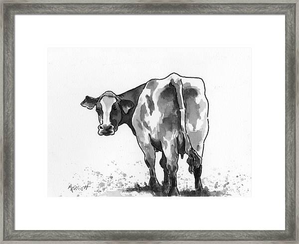 Big Bertha Blk/wht Framed Print