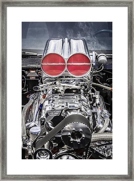 Big Big Block V8 Motor Framed Print