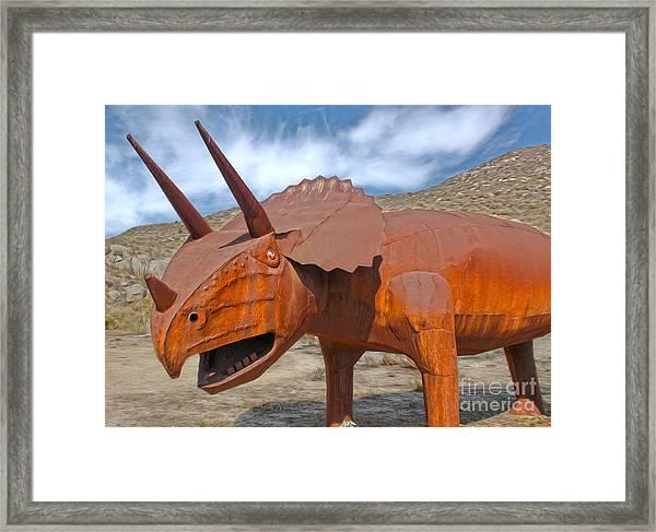 Big Fake Dinosaur - Triceratops Framed Print