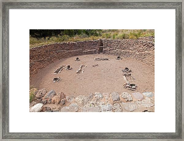 Big Kiva Bandelier National Monument Framed Print