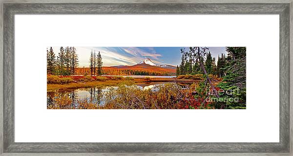 Big Lake And Mt Washington Oregon Framed Print