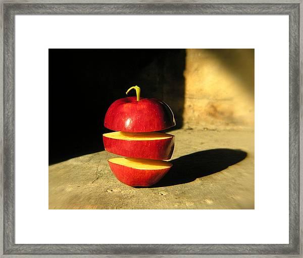 Big Mac-apple Diet Framed Print