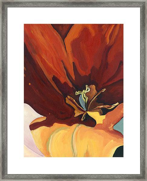 Big Red Framed Print by Lisa Foster