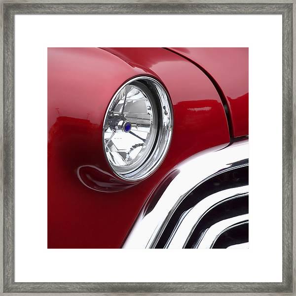 Big Red Oldsmobile Framed Print