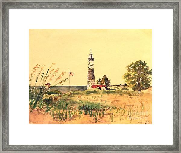 Big Sable Lighthouse 1945 Framed Print