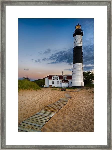 Big Sable Point Lighthouse Framed Print