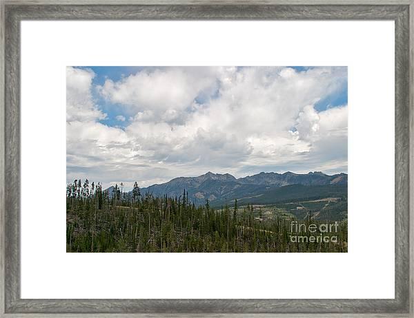 Big Sky Cloudscape Framed Print