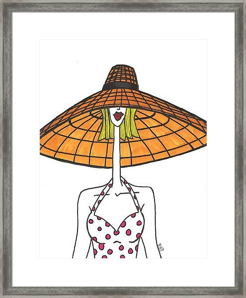 Big Straw Hat Framed Print