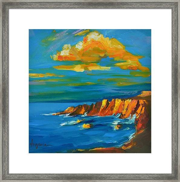 Big Sur At The West Coast Of California Framed Print