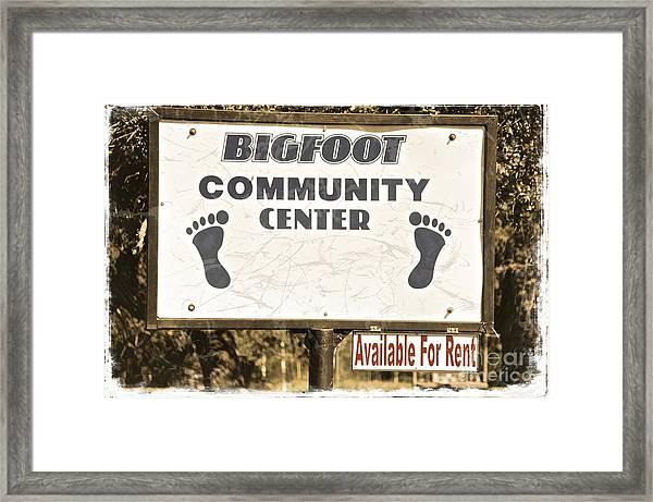 Bigfoot Evidence Framed Print
