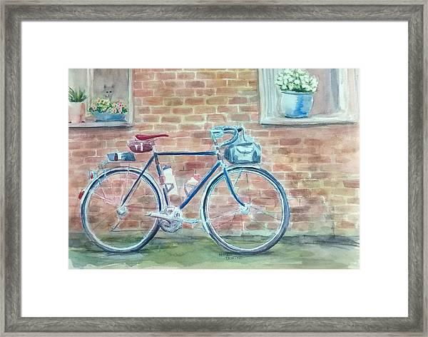 Bike In The Alley Framed Print