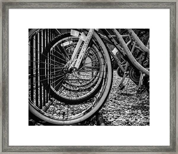 Bike Rack Framed Print