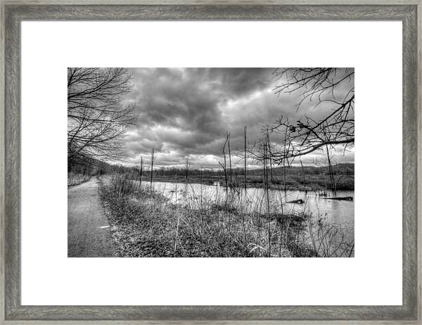 Bike Trail Off-season Framed Print