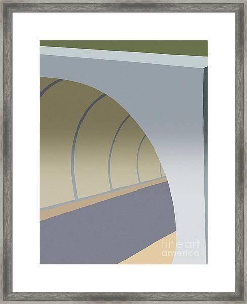 Bike Tunnel Framed Print