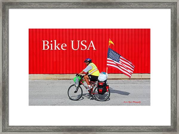 Bike Usa Framed Print