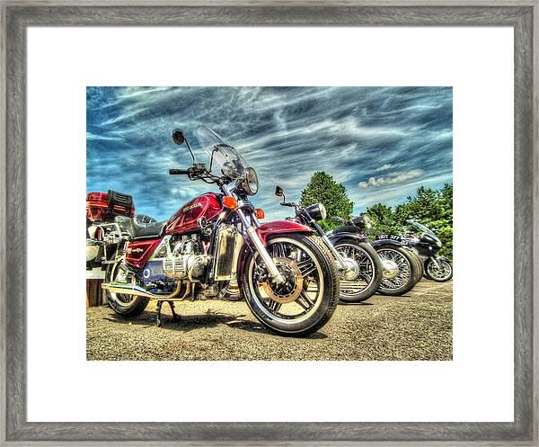 Bikers Grove Framed Print