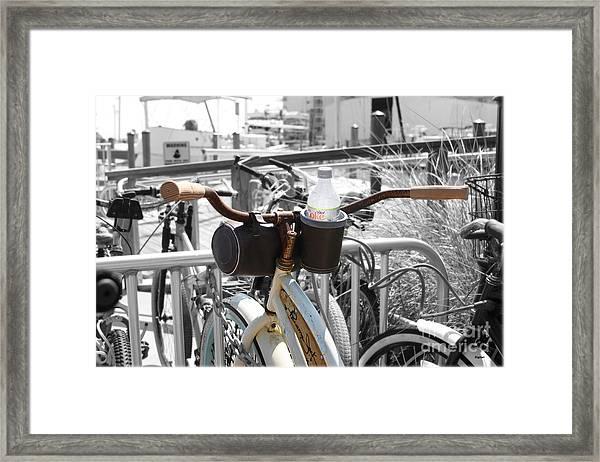 Biking With Panama Jack  Framed Print by Steven Digman