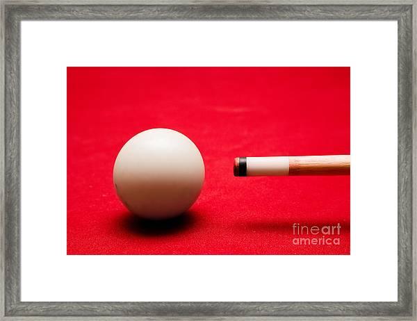 Billards Pool Game Framed Print