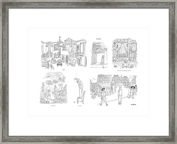 Billet  K Ration  V-mail  Ack-ack Through Open Framed Print