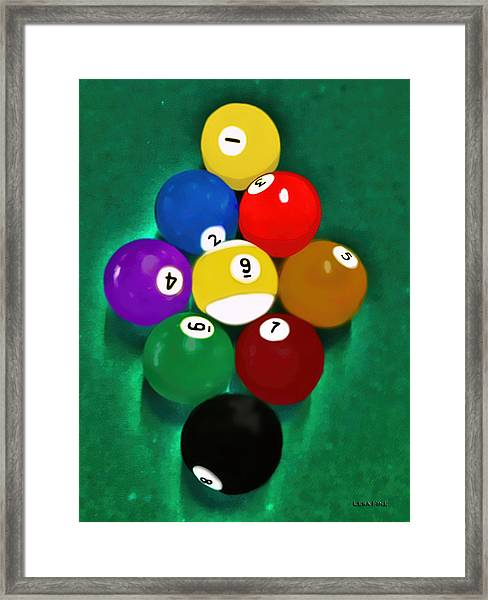 Billiards Art - Your Break 1 Framed Print